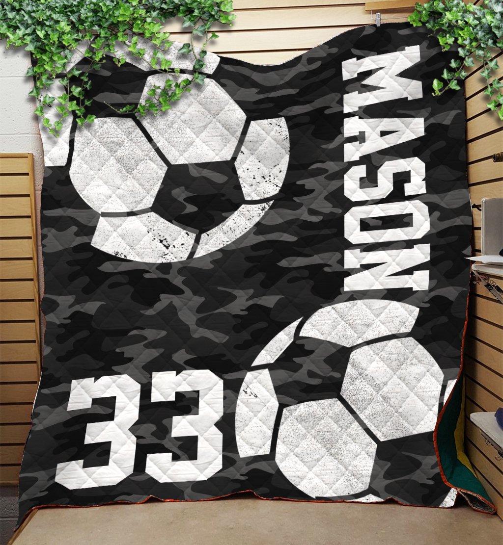 Custom Blankets Soccer Personalized Name & Number - Fleece ...